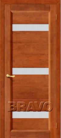 Межкомнатная дверь из массива Классическая Вега-19Т-30 (Светлый Орех)