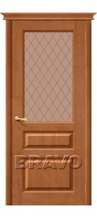 Межкомнатная дверь из массива Классическая Вега-2 (ПЧО)Т-31 (Темный Орех)