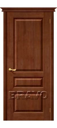 Межкомнатная дверь из массива Классическая Вега-2 (ПО)Т-31 (Темный Орех)