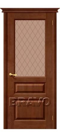 Межкомнатная дверь из массива Классическая Вега-2 (ПЧО)Т-30 (Светлый Орех)