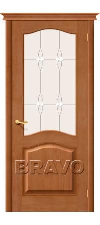 Межкомнатная дверь из массива Классическая М5Т-05 (Светлый Лак)