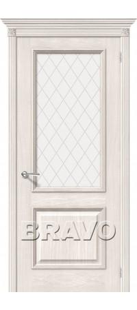 Межкомнатная дверь натуральный шпон серии Элит - Шервуд Д-23 (Белая)