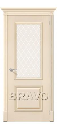 Межкомнатная дверь натуральный шпон серии Элит - Гранд Д-15 (Ваниль)