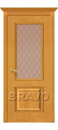 Межкомнатная дверь натуральный шпон серии Элит - Гранд Т-03 (ДубНат)