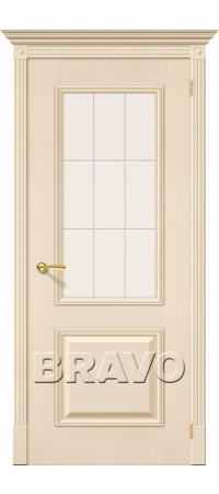 Межкомнатная дверь натуральный шпон серии Элит - Версаль Д-16 (Ваниль)