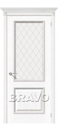 Межкомнатная дверь натуральный шпон серии Элит - Шервуд Д-21 (Белый Дуб)