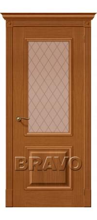 Межкомнатная дверь натуральный шпон серии Wood Classic -Вуд Классик-13 (Гранд) Golden Oak