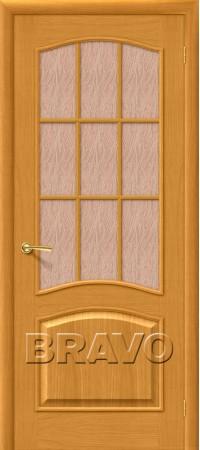 Межкомнатная дверь натуральный шпон серии Wood Classic -Вуд Классик-33 (Капри-3) Natur Oak