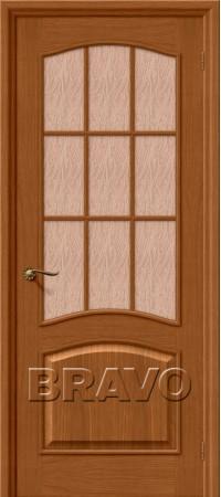 Межкомнатная дверь натуральный шпон серии Wood Classic -Вуд Классик-33 (Капри-3) Golden Oak