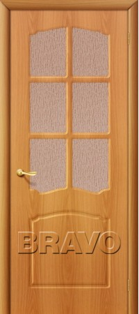 Межкомнатная дверь из ПВХ серии Start Альфа П-12 (МиланОрех)