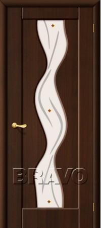 Межкомнатная дверь из ПВХ серии Start Вираж П-13 (Венге)
