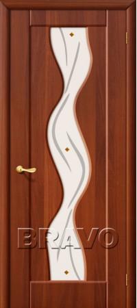 Межкомнатная дверь из ПВХ серии Start Вираж Плюс П-11 (ИталОрех)