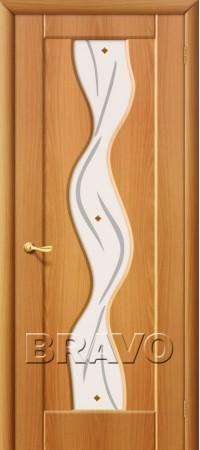 Межкомнатная дверь из ПВХ серии Start Вираж Плюс П-12 (МиланОрех)