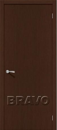 Межкомнатная дверь из шпона файн лайн серии Евро - Евро В-0  Ф-25 (Венге)