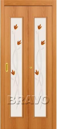 Складная дверь 22Х Л-12 (МиланОрех)