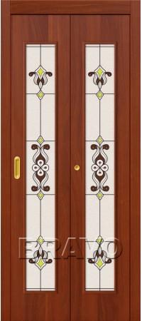 Складная дверь 23Х Л-11 (ИталОрех)