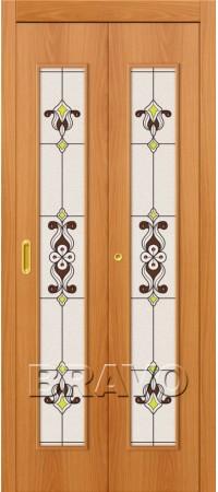 Складная дверь 23Х Л-12 (МиланОрех)