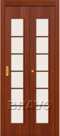 Складная дверь 2С Л-11 (ИталОрех)