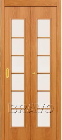Складная дверь 2С Л-12 (МиланОрех)