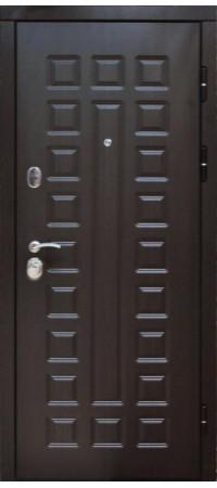 Входная металлическая дверь СНЕДО Сенатор 2К винорит венге/венге