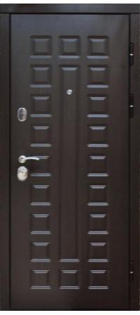Входная металлическая дверь СНЕДО Сенатор 2К винорит венге/белая лиственница