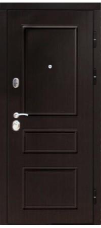 Входная металлическая дверь СНЕДО Гранд 2К винорит венге/белый матовый RAL 9003