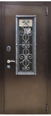 Входная металлическая дверь СНЕДО Плющ ВИНОРИТ грецкий орех