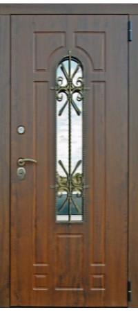 Входная металлическая дверь СНЕДО Лацио 2 ВИНОРИТ грецкий орех