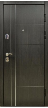 Входная металлическая дверь СНЕДО Техно 05 2К винорит ВЕНГЕ\белая лиственницаСоломон РФ 3К тёмный ОРЕХ