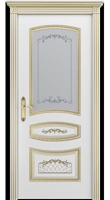 Соната ПО Белая эмаль/Золотая патина В3 (рис.1)