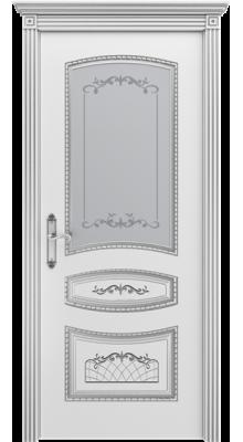 Соната ПО Белая эмаль/Серебряная патина В3 (рис.1)